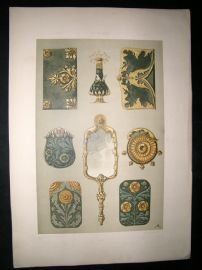 Anton Seder 1890 Folio Decorative Art Nouveau Botanical Design Print 100